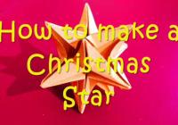 una stella natalizia in 3d